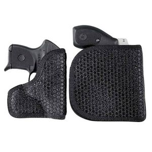 DeSantis M44 Super Fly Pocket Holster S&W/Ruger/Taurus Small Revolvers Ambidextrous Nylon Black M44BJN3Z0