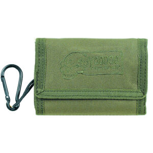 Voodoo Tactical Tri-Fold Military Wallet with Removable Carabineer Nylon OD Green 012404000