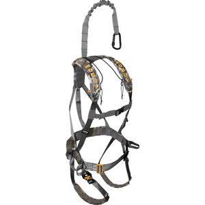 Muddy Outdoors Ambush Safety Harness One Size Fits Most Fall Arrest System Rated to 300 lbs Optifade Elevated II Camo