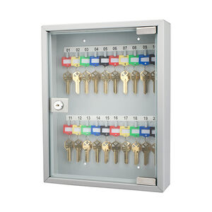Barska Optics 20 Key Lock Box with Glass Door Gray
