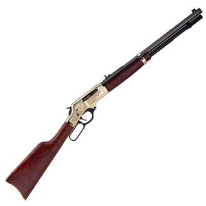 "Henry Brass Wildlife Edition Lever Action Rifle .30-30 Win 20"" Octagonal Barrel 5 Rounds Engraved Brass Receiver Walnut Stock Blued H009BWL"
