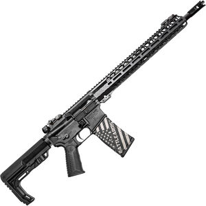 "BAD Battlearms WORKHORSE 002 5.56 NATO AR-15 Semi Auto Rifle 16"" Barrel 30 Rounds Back-Up Sights 15"" Freefloat M-LOK Compatible Handguard Collapsible Stock Black Finish"