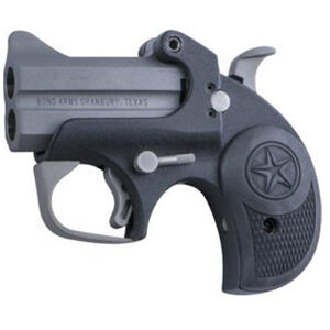 "Bond Arms Backup 9mm Luger Break Action Derringer 2.5"" Barrels 2 Rounds Rubber Grip Front Blade Sight/Fixed Rear Sight Matte Black Finish"