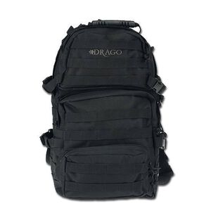 DRAGO Assault Backpack 600D Polyester Black 14302BL
