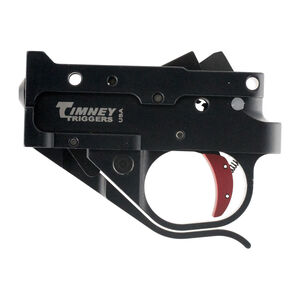 Timney Trigger for Ruger 10/22 Trigger Pull Set 2-3/4 Pounds Black Housing/Red Trigger Shoe