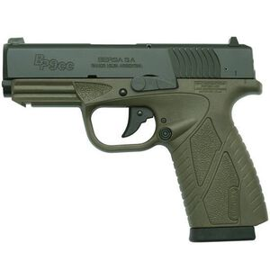 "Bersa Concealed Carry 9mm Luger Striker Fired 3.3"" Barrel 8 Rounds Doutone, Matte, Olive Drab"