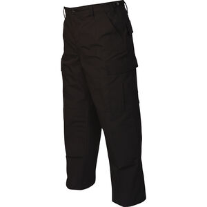 Tru-Spec Gen-1 Police BDU Pants Size Large Length Regular Polyester/Cotton Ripstop Black 1995005