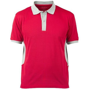 Beretta Special Purchase Men's Polo Short Sleeve Small Cotton Red and Silver