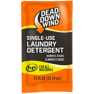 Dead Down Wind Clothing Wash Scent Elimination Laundry Detergent Single Use Pack