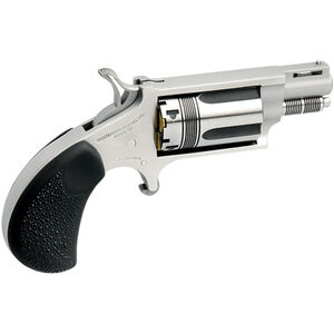 """North American Arms Wasp .22 LR/WMR Revolver 5 Rounds 1.125"""" Barrel Rubber Grips Stainless Steel"""