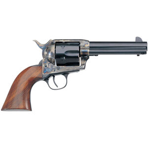 "Taylor's & Co New Model Cattleman .45 LC Single Action Revolver 4.75"" Barrel 6 Rounds Tuned Action Walnut Grips Case Hardened/Blued Finish"