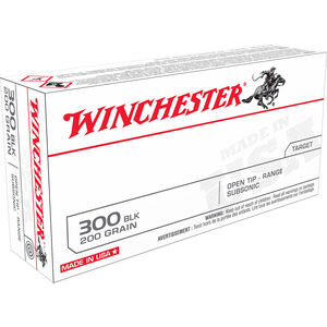Winchester .300 Blackout Ammunition 20 Rounds FMJOT 200 Grains