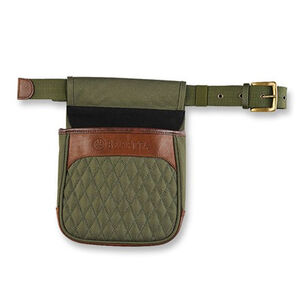 Beretta B1 Signature Shell Pouch Leather/Canvas Green