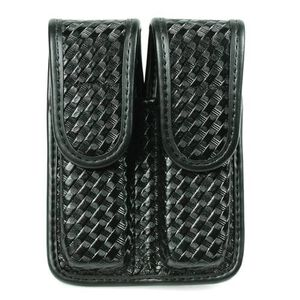 BLACKHAWK! Double Magazine Pouch Staggered Column Basket Weave Finish Black 44A001BW