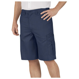 Dickies Men's Industrial Flat Front Shorts Polyester / Cotton Waist 34 Navy LR542