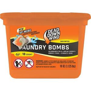 Dead Down Wind Laundry Bomb Scent Elimination Laundry Detergent Packs 18 Count