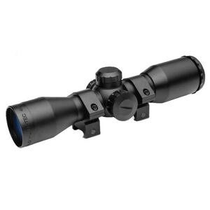 Truglo Cross Tec Compact Crossbow Scope 4x32mm Illuminated Reticle with Rings, Black TG8504AL