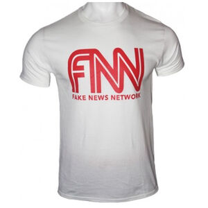 Trump Fake News Network Men's Short Sleeve T-shirt Size Medium Cotton White