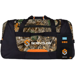 "ScentLok OZChamber 8K & OZ500 Combo Pack 32""x16""x16 Gear Bag with Ozone Generator Realtree Edge"