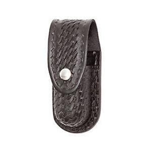 "Gould & Goodrich Aerosol Case MKIV MKXII 2.25"" Belt Chrome Snap Polymer Basket Weave Black B681-4W"
