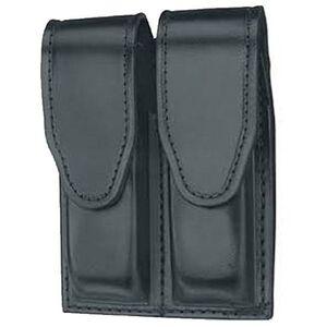 Gould & Goodrich Double Magazine Case Leather H&K 2000SK Hidden Snap Plain Black Finish B629-3