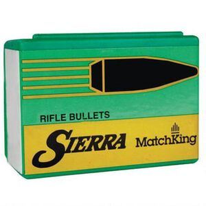 """Sierra MatchKing Bullet .22 Caliber .224"""" Diameter 90 Grain Hollow Point Boat Tail Projectile 50 Count"""
