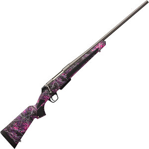 """Winchester XPR Muddy Girl Compact .270 WSM Bolt Action Rifle 3 rounds 22"""" Barrel Synthetic Stock Muddy Girl Camo Permacote Gray"""