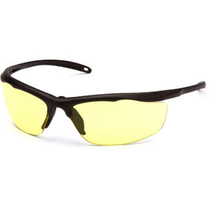 Pyramex Safety Products Zumbro Eye Protection Safety Glasses with Yellow Lenses and Bronze Frames VGSBR230T