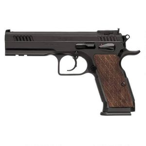 "EAA Witness Elite Stock III .45 ACP Semi Auto Pistol 4.75"" Barrel 10 Rounds Fully Adjustable Super Sights Integral Rail Checkered Walnut Grip Blued Finish"