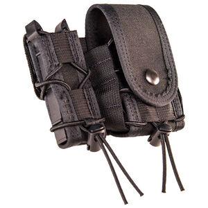 High Speed Gear LEO TACO Pistol/Handcuff Pouch w/Cover Belt Mount Black