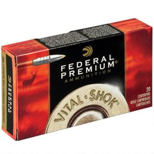 Federal Vital-Shok 7mm-08 Remington Ammunition 20 Rounds Nosler Trophy Bonded Tip 140 Grains P708TT2