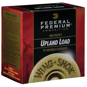 """Federal Wing Shok High Velocity Upland Load 16 Gauge Ammunition 2-3/4"""" #4 Copper Plated Lead Shot 1-1/8 Ounce 1425 fps"""