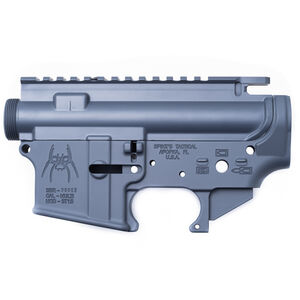 Spikes Tactical AR-15 Upper and Lower Stripped Receiver Set Aluminum Grey STS1515