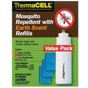ThermaCELL Mosquito Repellent Refill 4 Butane Cartridges 12 Insect Repellent Mats Earth Scent E4