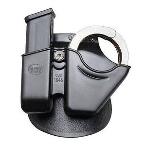 Fobus 10mm/.45 Double Stack Handcuff and Magazine Paddle Pouch Kydex Black