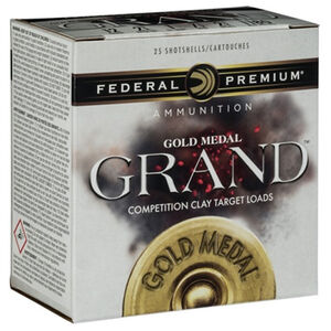 "Federal Gold Medal Grand Paper 12 Gauge Ammunition 25 Rounds 2-3/4"" #8 Size 1-1/8oz Lead Shot 1200fps"