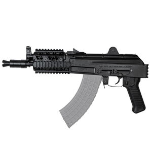 "Arsenal SAM7K AK-47 7.62x39mm Semi Auto Pistol 10.5"" Barrel 5 Rounds Milled Receiver Rear Quad Rail Vertical Picatinny Rail Matte Black"
