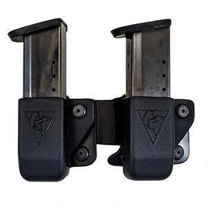 Comp-Tac Twin Magazine Pouch Belt Clip Left Side Carry Fits 1911 Kydex Black