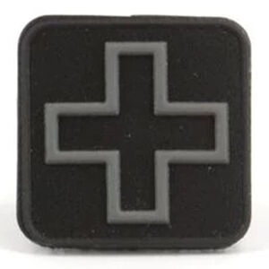 "Eleven 10 Cross Patch 1"" x 1"" PVC Black/Grey"