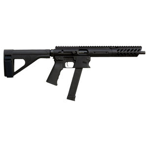 "TNW Aero Survival Pistol 9mm Luger Semi Auto Pistol 10.25"" Barrel 33 Rounds GLOCK Style Magazine Free Float Hand Guard Pistol Stabilizing Brace Matte Black"