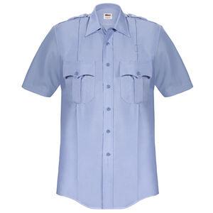 Elbeco Paragon Plus Men's Short Sleeve Shirt Extra Small Polyester Cotton Blue