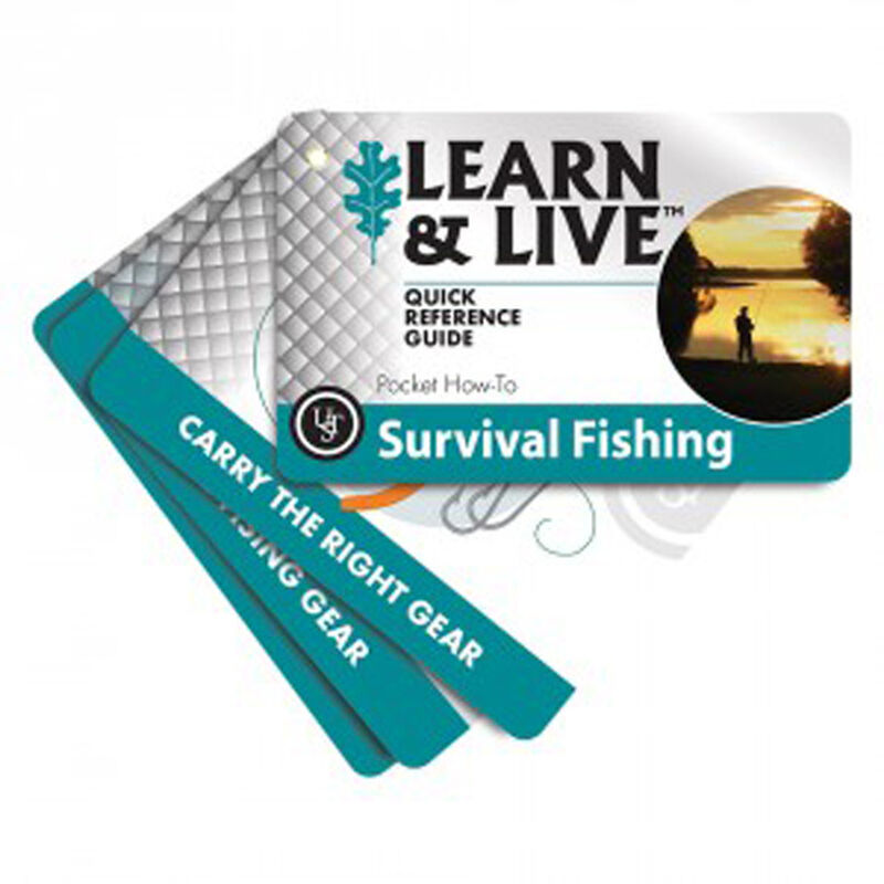 Ultimate Survival Technologies Learn & Live Fishing Card Set 20-02749
