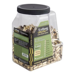 Top Brass 9mm Luger Reconditioned Brass 1,000 Count Jug