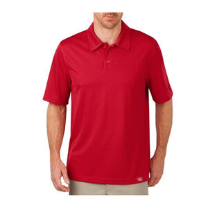 Dickies Men's WorkTech Short Sleeve Performance Polyester Polo Shirt Large English Red LS405ER