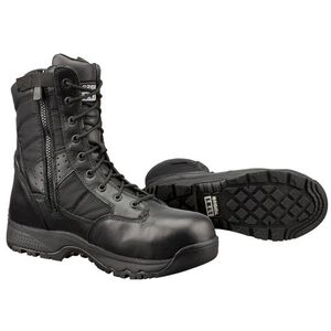 "Original S.W.A.T. Metro Safety Boots 9"" Waterproof Side Zip Leather/Nylon Rubber Size 9 Wide Black 129101-W9.0/EU42"