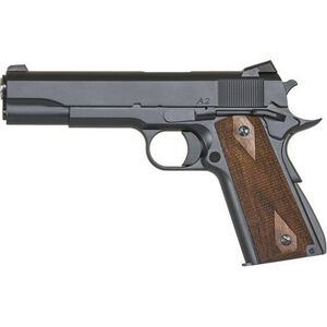 """CZ Dan Wesson 1911 A2 Semi Auto Pistol .45 ACP 5"""" Barrel 7 Rounds Wood Grips Matte Blued"""
