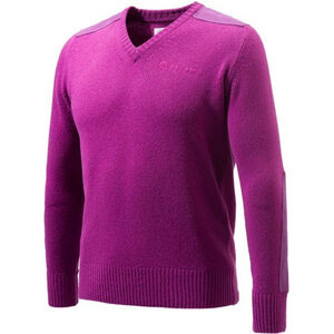 Beretta Special Purchase Men's Classic V-Neck Sweater Long Sleeve Large Violet