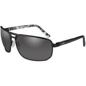 Wiley X Hayden Shooting Glasses Medium/Large Black Frame Smoke Grey Lenses