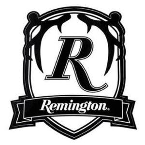 Remington Badge Logo Sticker Decal Clear/Black 17422