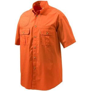 Beretta Special Purchase Men's Shooting Shirt Short Sleeve Small Cotton Orange